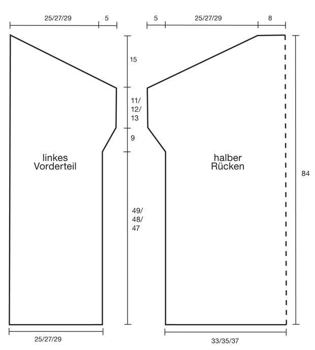 Strickmuster: Strickjacke aus Mohairwolle stricken