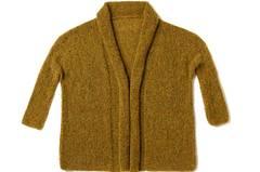 Strickjacke aus Mohairwolle stricken