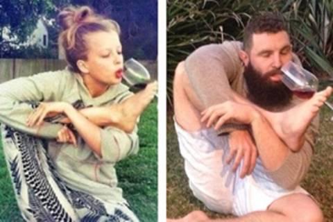 So lustig: Typ stellt Tinder-Fotos nach