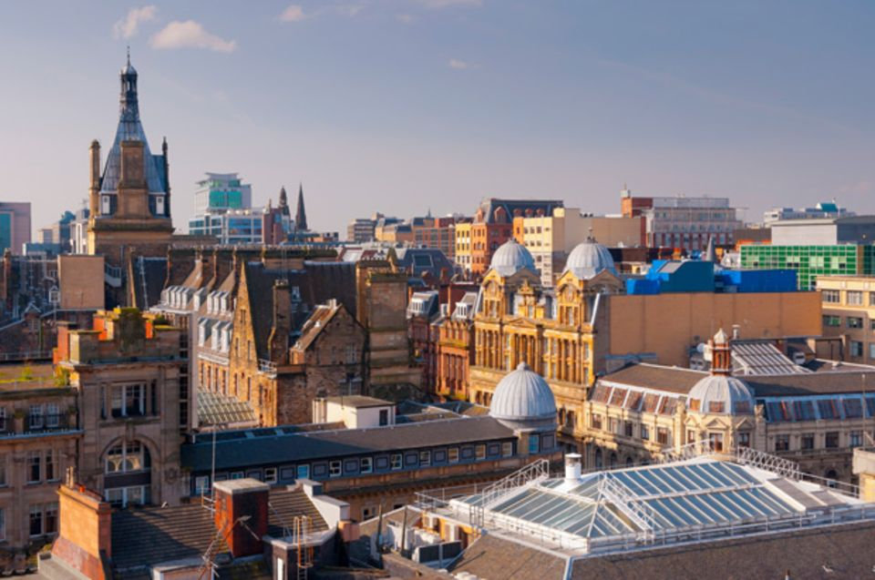 Glasgow im Sonnenschein.