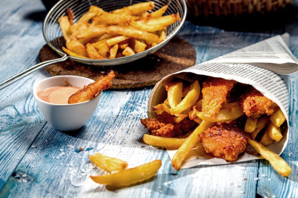 Fast ein Nationalgericht: Fisch & Chips