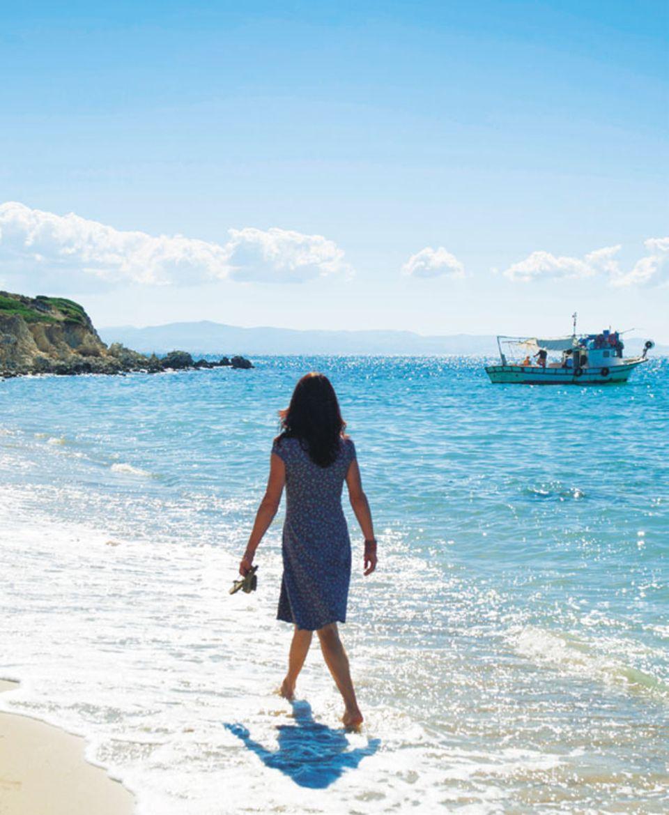 """Am Strand """"Ayazma Plaju"""" auf der Insel Bozcaada"""