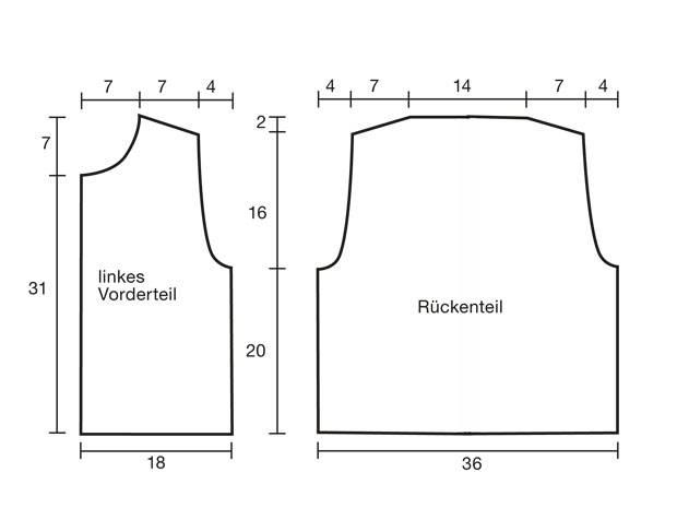 Strickmuster: Kinderweste mit Perlmuster stricken | BRIGITTE.de