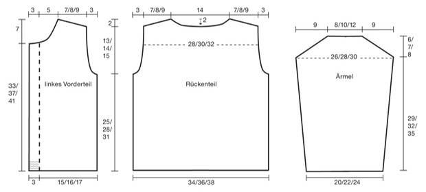 Strickmuster: Zopfjacke für Kinder stricken - Anleitung und Muster