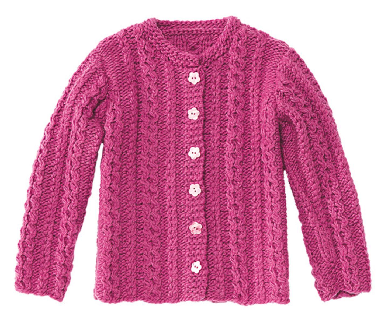 Zopfjacke für Kinder stricken - Anleitung und Muster