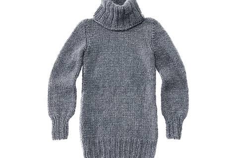 Rollkragenpullover stricken - Anleitung und Schnitt