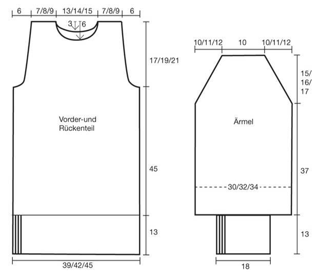 Strickmuster: Rollkragenpullover stricken - Anleitung und Schnitt