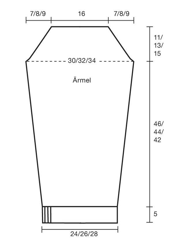 Strickmuster: Strickjacke mit Muster - Anleitung und Schnitt