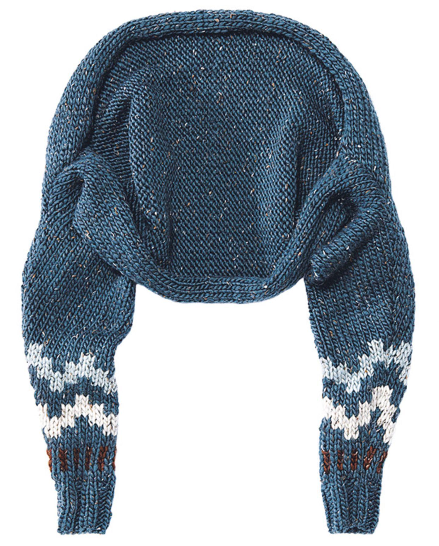 Bolero mit Muster stricken - Anleitung und Schnitt
