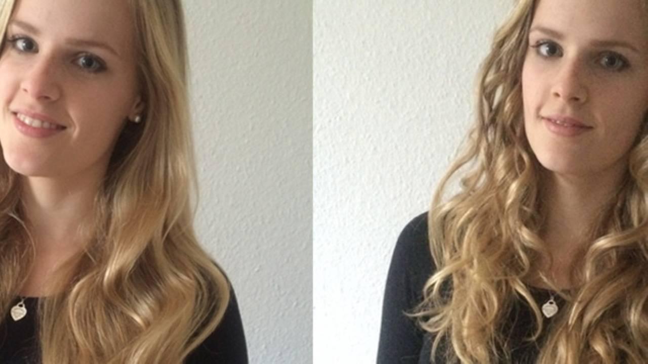 Kurze haare locken mit lockenstab