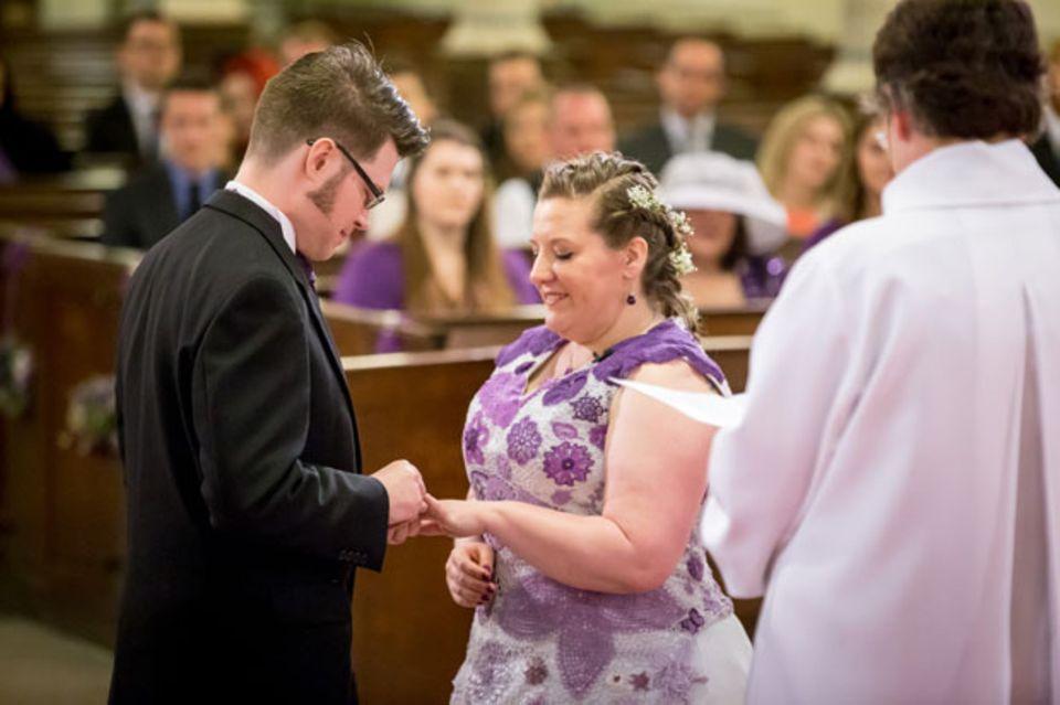 Diese Braut hat ihr eigenes Hochzeitskleid gehäkelt