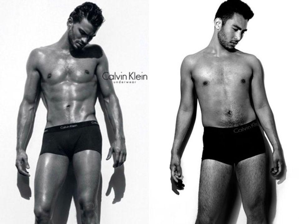 Auch Männer fühlen sich neben Models wie arme Würstchen