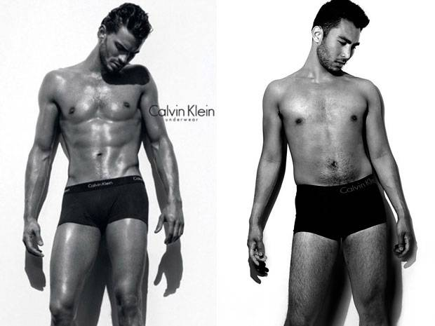 Fotosession: Auch Männer fühlen sich neben Models wie arme Würstchen