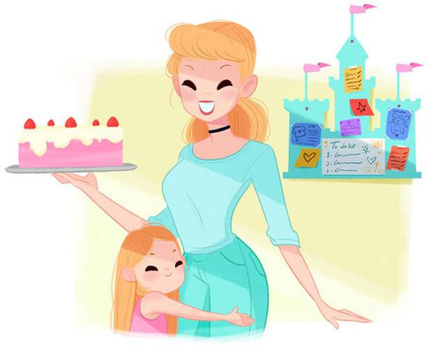 Es war einmal: Wenn Disney-Prinzessinnen Mütter wären ...