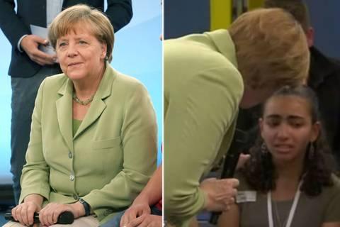 Abschiebung statt Zukunft: Merkel versucht, weinendes Mädchen zu trösten
