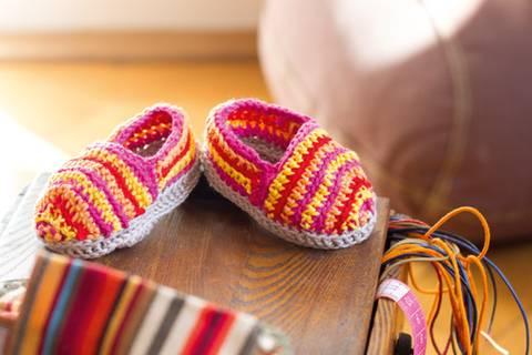 Babyschuhe häkeln: Sind die niedlich