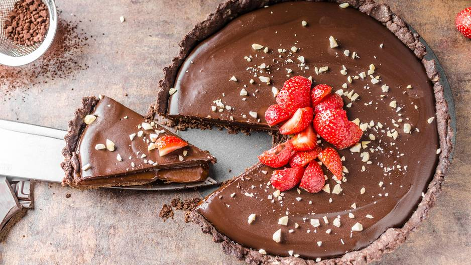 Backen: Nutella-Torte mit Erdbeeren