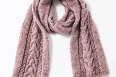 Schal mit Zöpfen - eine Strickanleitung