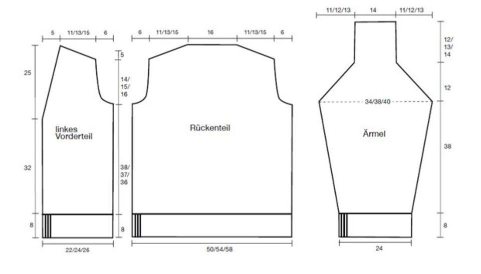 Mustermix-Jacke stricken - eine Anleitung