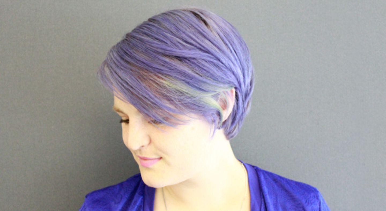 Lila und grün wie ein Lavendelfeld in der Provence.
