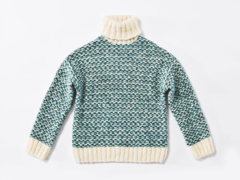 Zweifarbiger Pullover - eine Strickanleitung