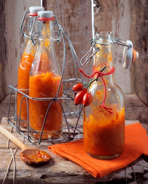 Ketchup selber machen: Hagebutten-Ketchup