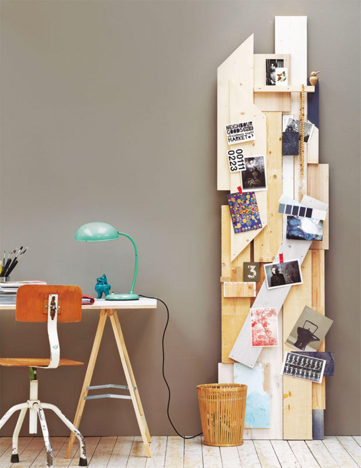 Pinnwand aus Holz selber bauen