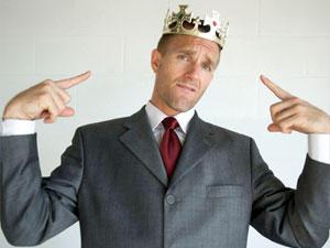 Mann mit Krone