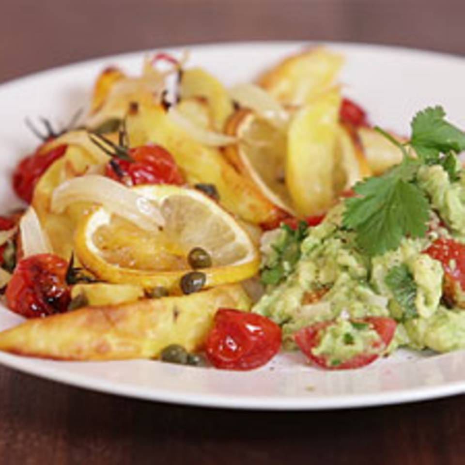 Zitronenkartoffeln mit Guacamole - eine Video-Kochschule
