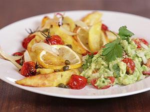 Zitronenkartoffeln mit Guacamole - einfach lecker