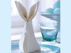 Servietten falten zu Ostern: Anleitung Schritt 8