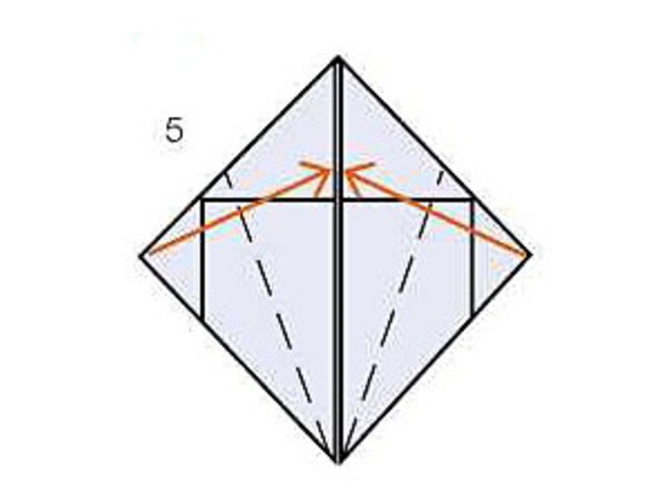 Servietten falten zu Ostern: Anleitung Schritt 5