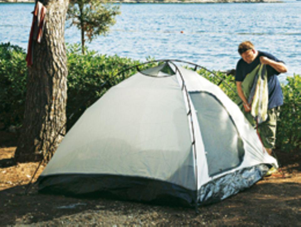 Am Meer: Stephan Bartels auf dem Campingplatz in Rovinj/Istrien.