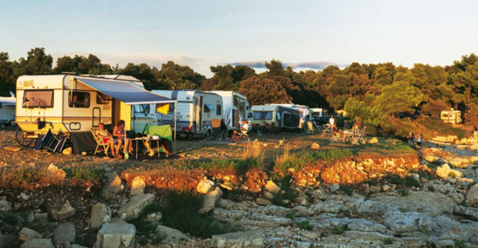 """Autocamp Stoja"" bei Pula liegt direkt am Meer"
