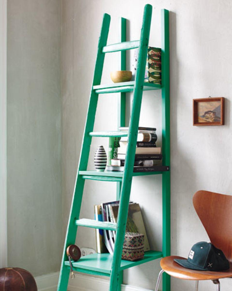 Leiterregal selber bauen: Von der Leiter zum Regal