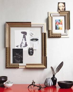 ideen zum selbermachen upcycling ein bilderrahmen aus. Black Bedroom Furniture Sets. Home Design Ideas