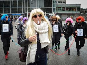 """Proteste gegen """"Germany's Next Topmodel"""""""