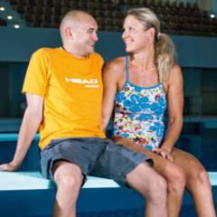 Auf einer Wellenlänge: Die Schwimmerin Kirsten Bruhn und ihr Trainer Phillip Semechin