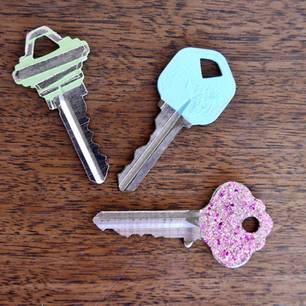Verzierte Schlüssel. DIY: Schnelle DIY Projekte Mit Nagellack