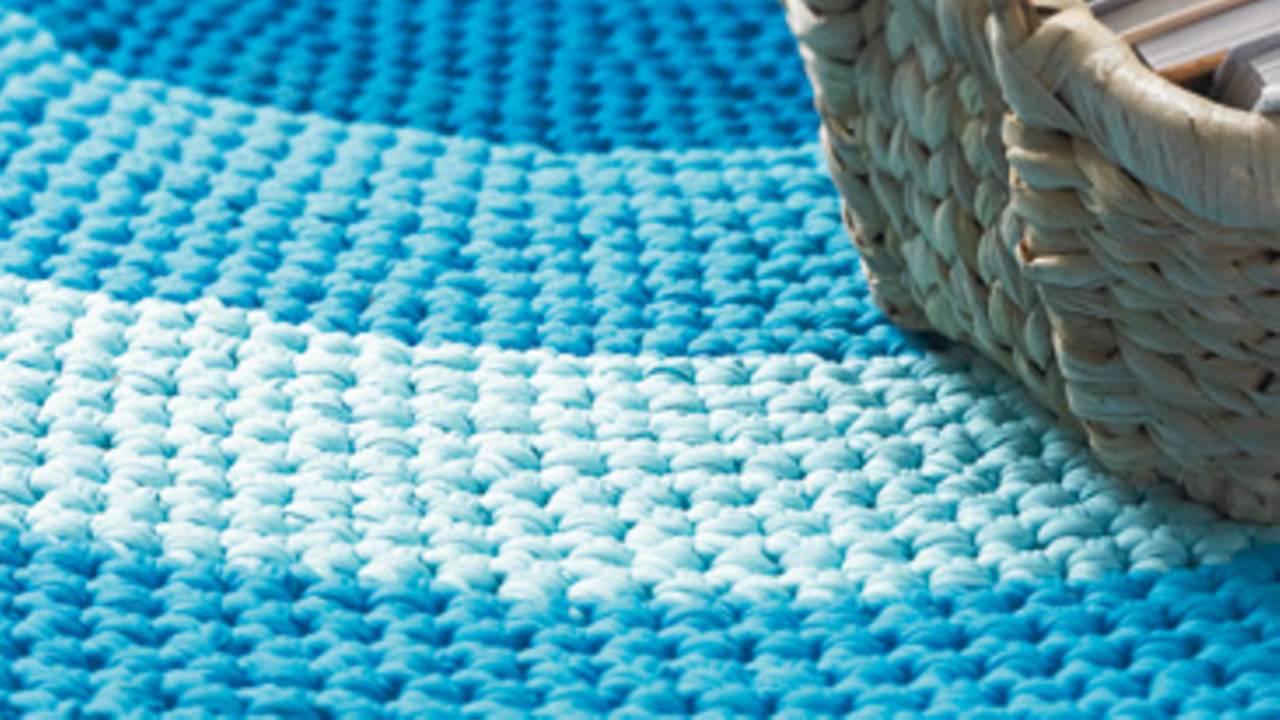 Sehr Häkelmuster: Teppich häkeln: Anleitung zum Nachmachen | BRIGITTE.de UU78