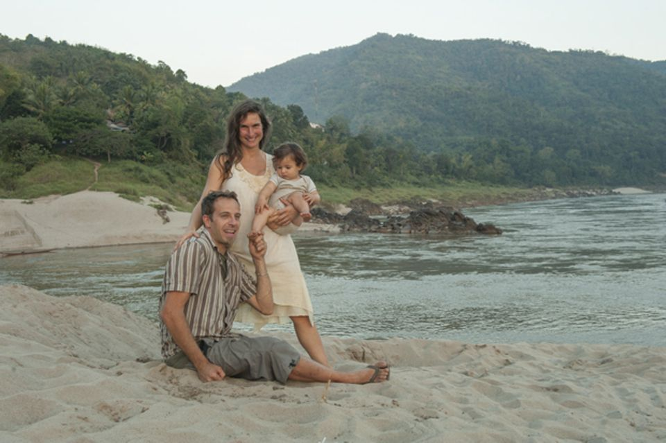Am Strand in Laos