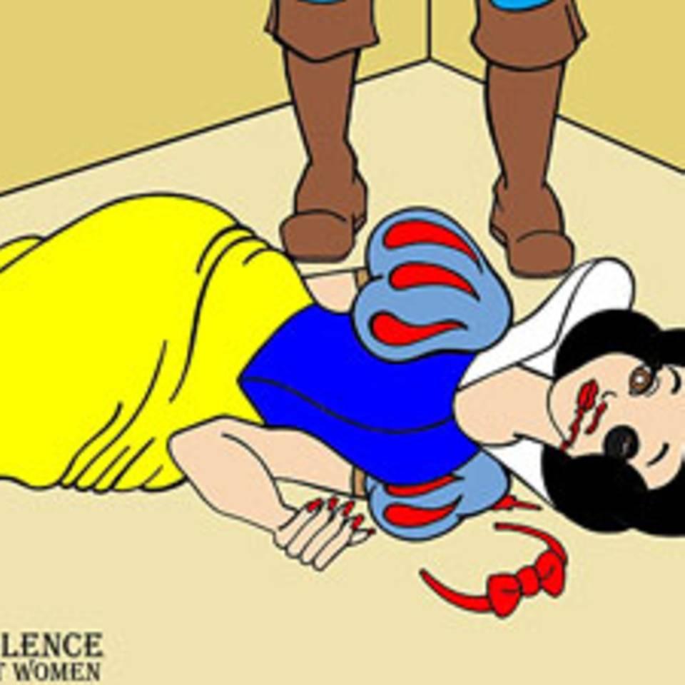 Häusliche Gewalt: Comicfiguren als Opfer