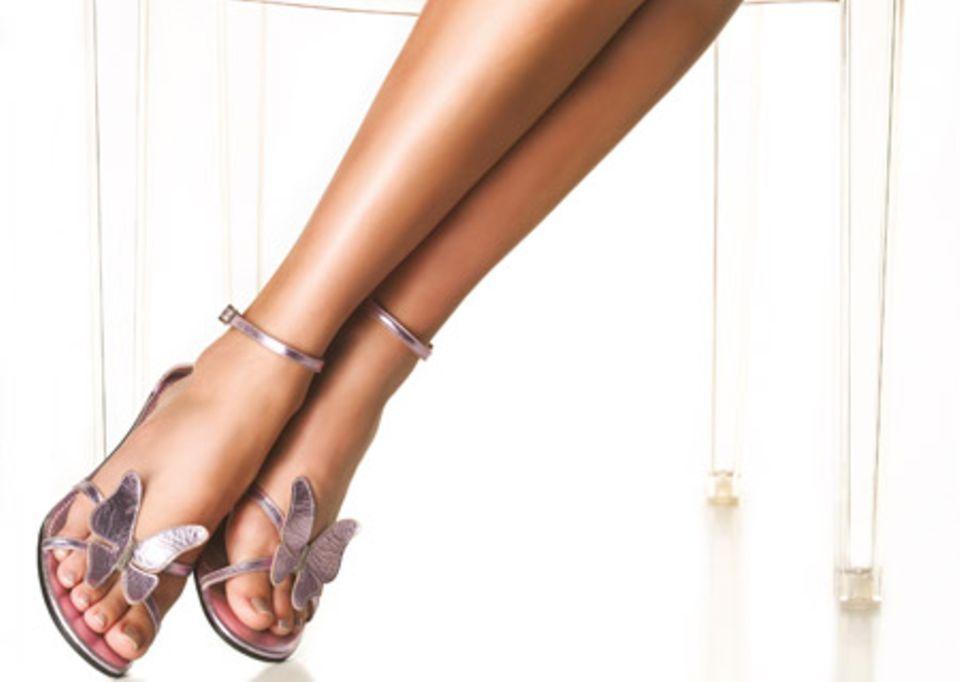 Myriams Beine und Füße müssen stets top-gepflegt sein.