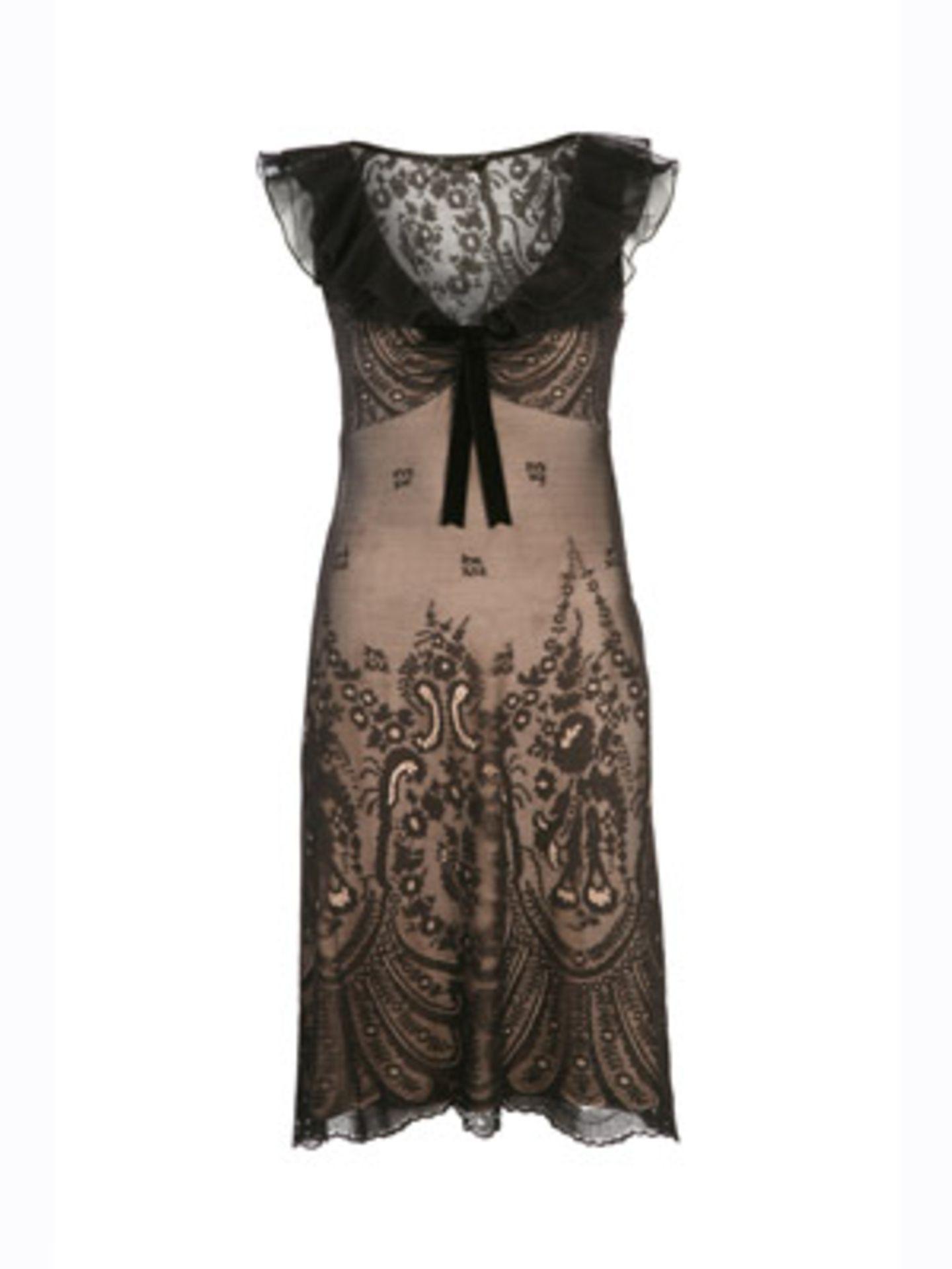 Raffiniertes Kleid in Empire-Linie mit filigranem Arm- und Halsausschnitt von Mango, um 60 Euro. Über www.mangoshop.com.