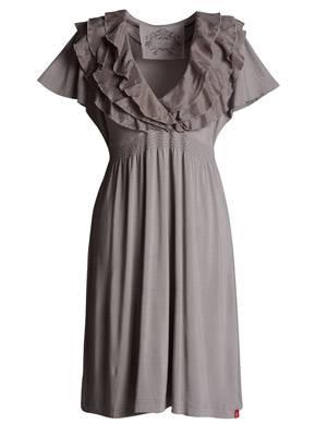 Knielanges Kleid in Empire-Linie mit Rüschenkragen von edc by Esprit, ca. 80 Euro.