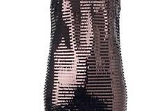 Glänzendes Kleid von Mango, um 60 Euro
