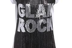 """T-Shirt mit Pailletten und """"Glam Rock"""" Schriftzug von Amor & Psyche, um 170 Euro"""
