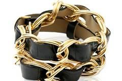 Schwarz-goldenes Armband von Asos, um 12 Euro