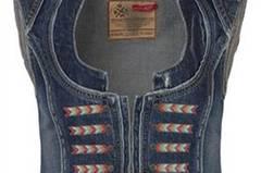 Stylische Jeansweste von Tribeca, über Brandneu, um 120 Euro.