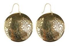 Bronzefarbene Ohrringe mit filigranem Muster von Accessorize, ca. 8 Euro.